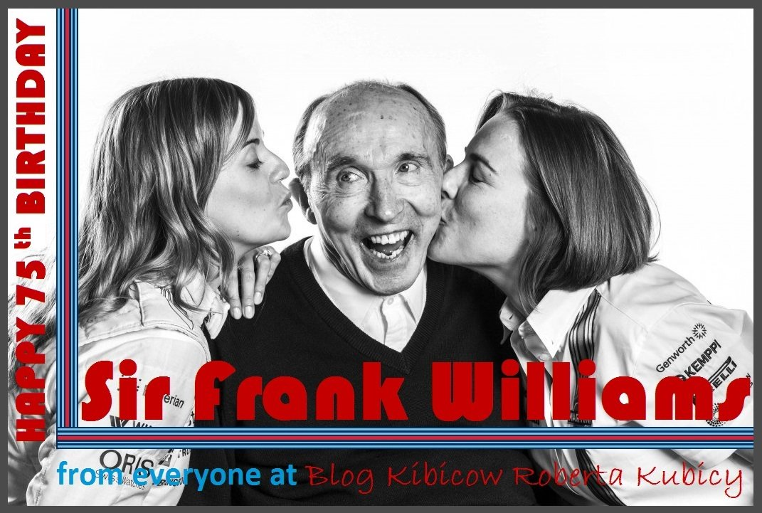 Happy 75th Birthday Sir Frank Williams!