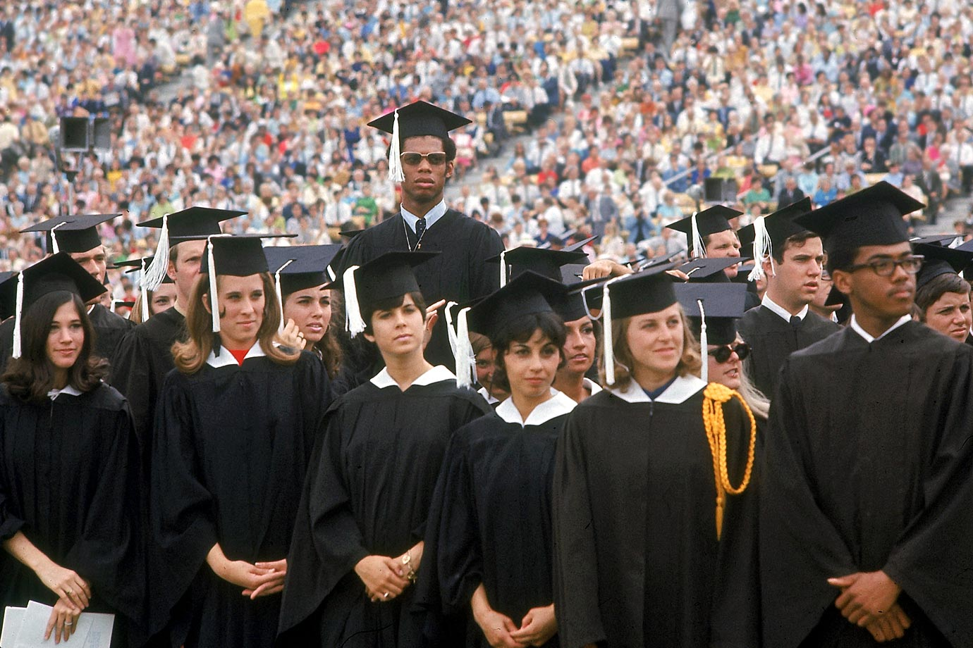Happy birthday Kareem Abdul-Jabbar Lew Alcindor graduates from UCLA, June 1969 Photo: Curt Gunther