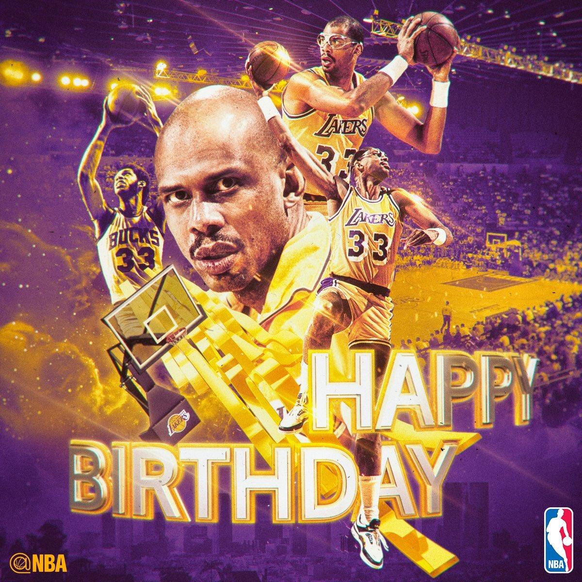 Happy Birthday to the 19-Time NBA All-Star, 6-Time NBA MVP, & 6-Time NBA Champion, Kareem Abdul-Jabbar!