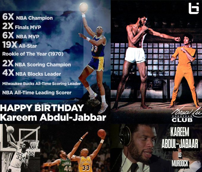 Happy Birthday Kareem Abdul-Jabbar   5 Videos to help convince you that was the GOAT: