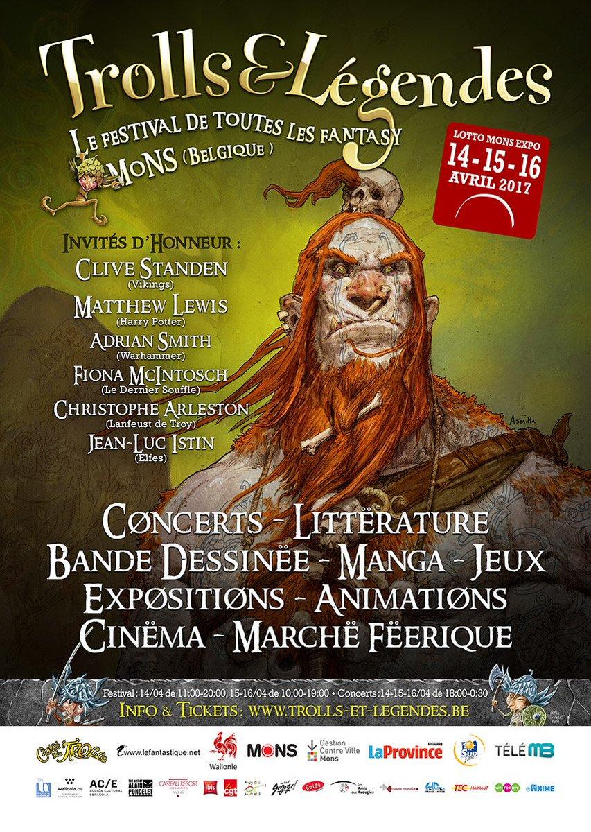 4月14-16日にベルギーで開催された「Trolls & Legends」というコミッションで聖闘士星矢アスガル