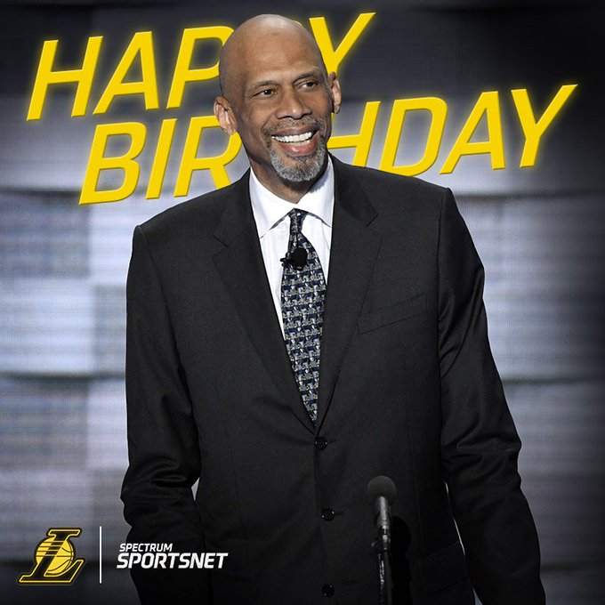 Happy Birthday to Laker great Kareem Abdul-Jabbar!