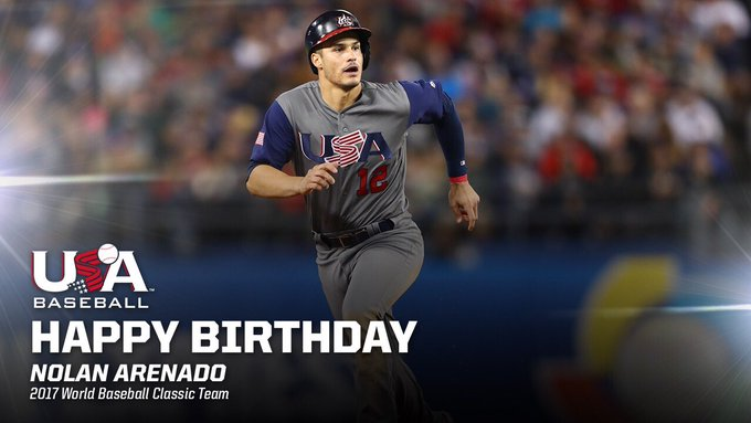 How \bout a for an early birthday present?   Happy birthday to World Champion, Nolan Arenado!