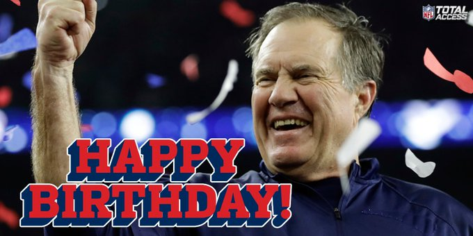 Wishing head coach Bill Belichick a very Happy Birthday!
