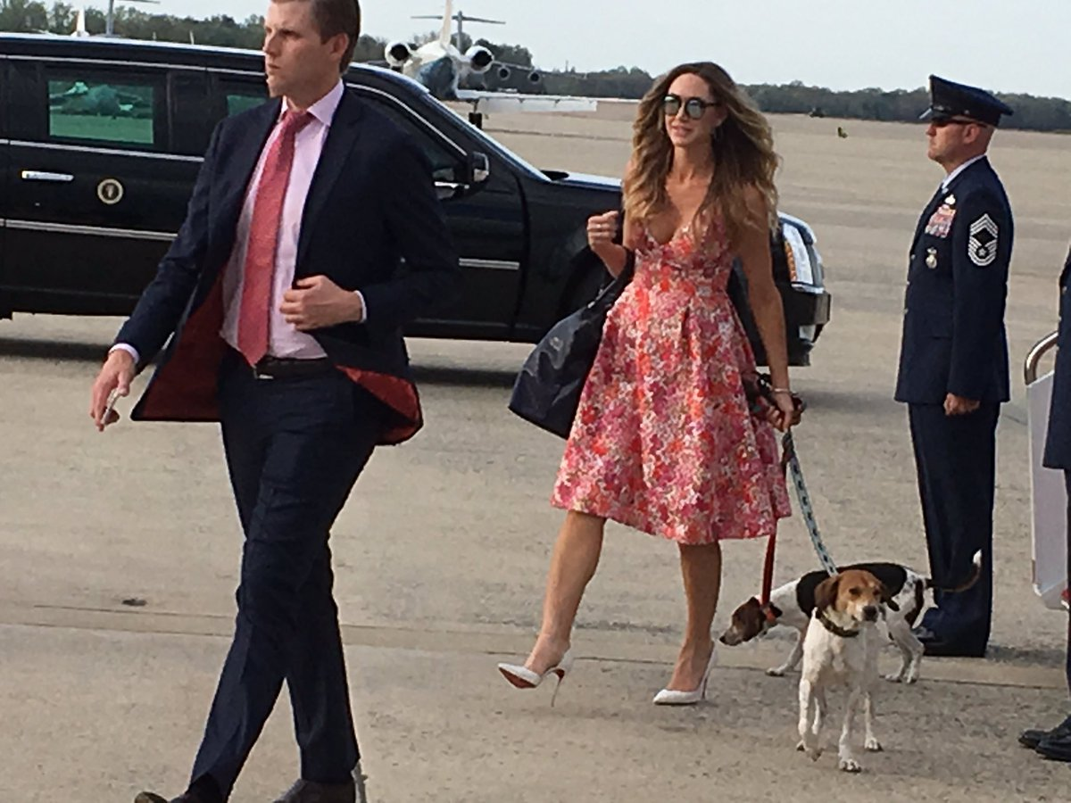 Trump family arrives at Andrews after Easter weekend in Palm Beach. https://t.co/TF2Nx2USrE