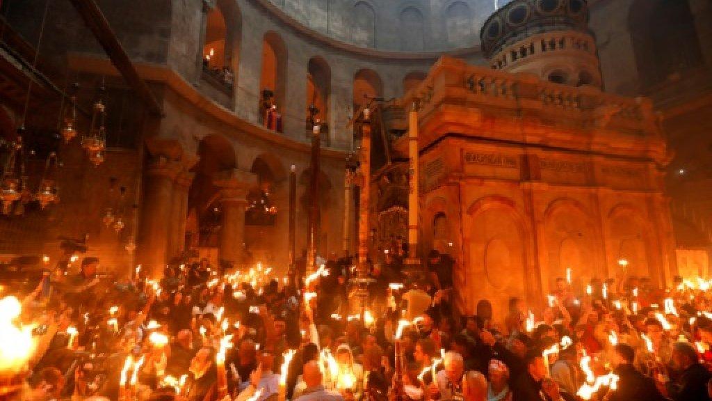 Christians mark Easter at Jerusalem site of Jesus's resurrection