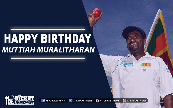 """Happy Birthday \""""Muttiah Muralitharan\"""" He turns 45 today"""