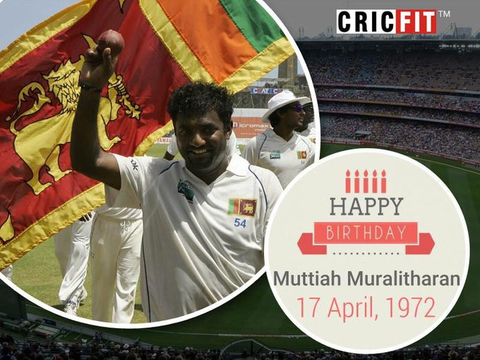 Cricfit Wishes Muttiah Muralitharan a Very Happy Birthday!