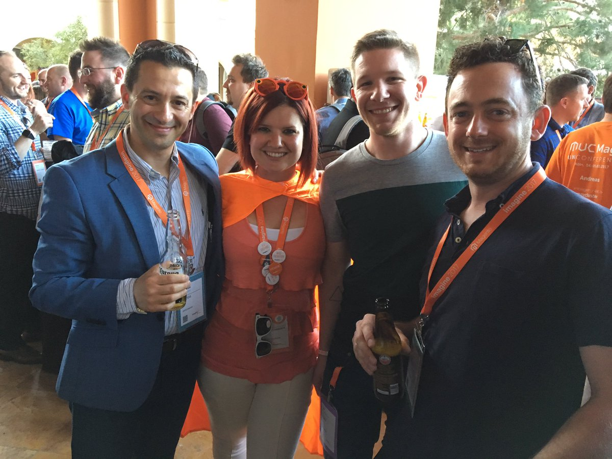 ospadano: Looking great @sherrierohde, @bobbyshaw and @eddr #MagentoImagine https://t.co/s5yWvRL1yK