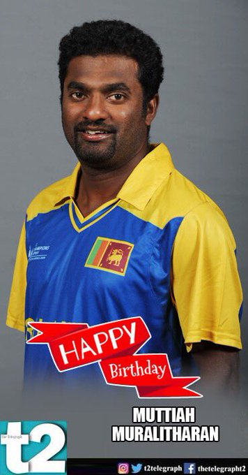 He\s the spin king with a wide-eyed smile. Happy birthday Muttiah Muralitharan!