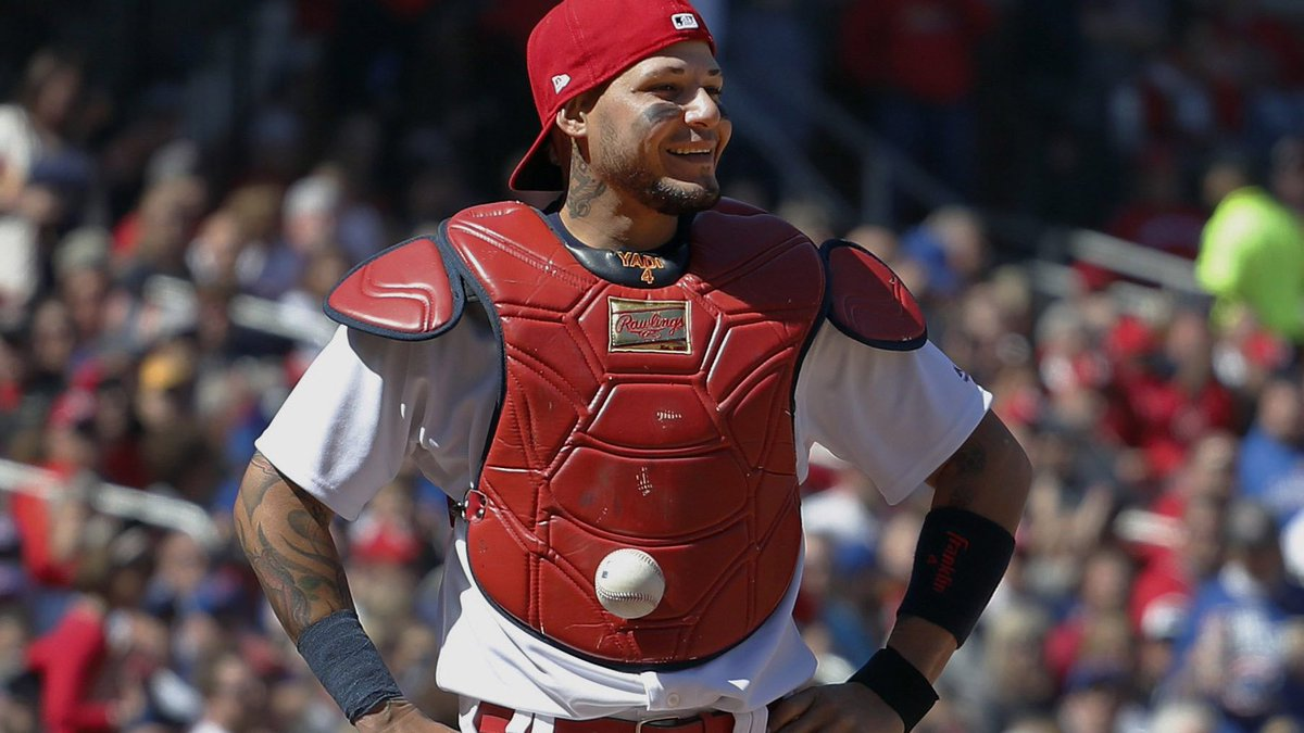 Sticker shock: Baseball that stuck to Yadier Molina sells for US$2,000