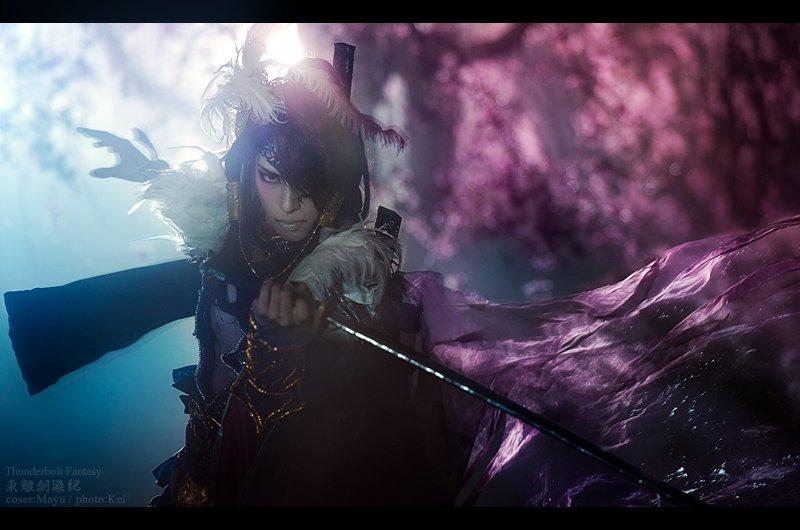 【コスプレThunderbolt Fantasy 東離劍遊紀】殺無生:繭、撮影:桂さん 夜桜撮影してきました!