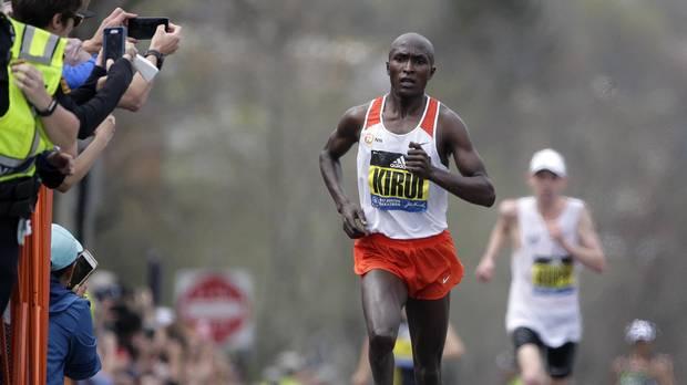 Kenya's Geoffrey Kirui wins men's BostonMarathon @Globe_Sports
