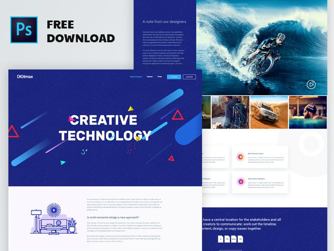 Creative Agency Template   Template by parvezvai freebie