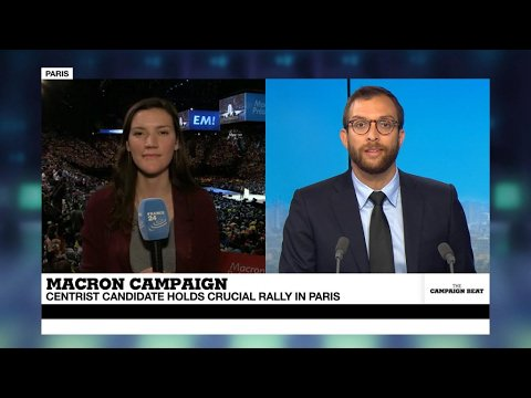 VIDEO -  Macron, Le Pen and Mélenchon in Paris ahead of Sunday vote