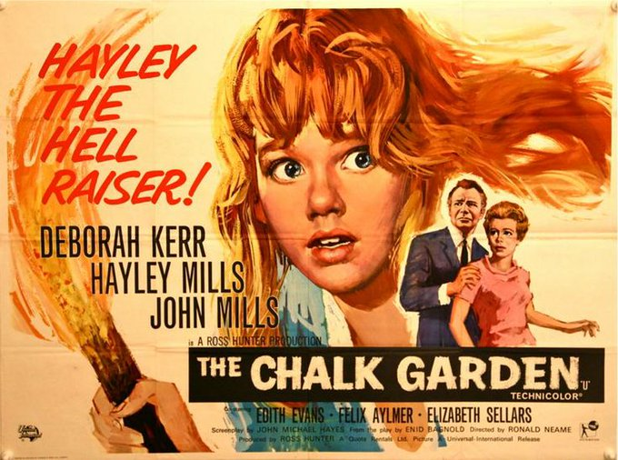 Happy birthday to the wonderful Hayley Mills - THE CHALK GARDEN - 1964