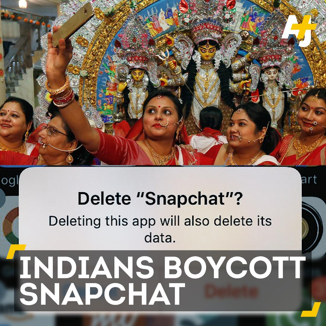 Why are some Indians boycotting Snapchat?