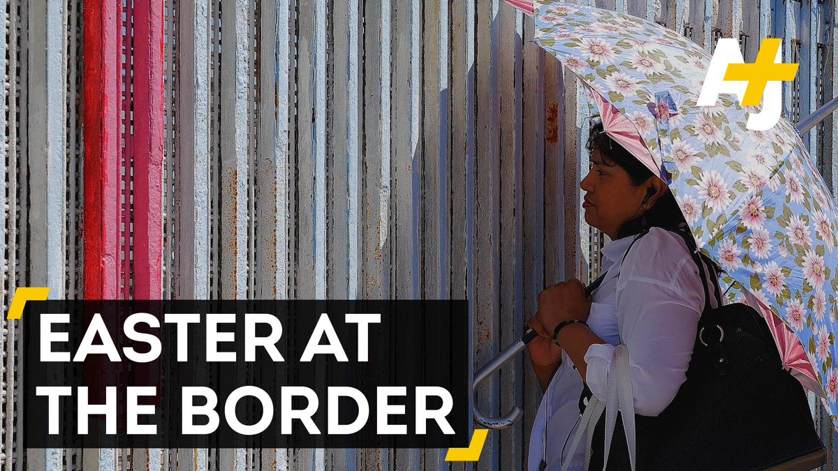 How was Easter celebrated at the U.S.-Mexico border?