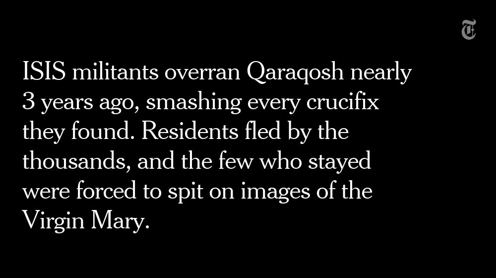NYT's @rcallimachi spent Easter in a Christian town in Iraq hard hit by ISIS