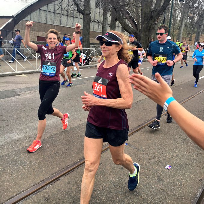 50 years ago they tried to stop Katherine Switzer running the Boston Marathon. Yesterday, at 70, she ran it again, wearing the same number.