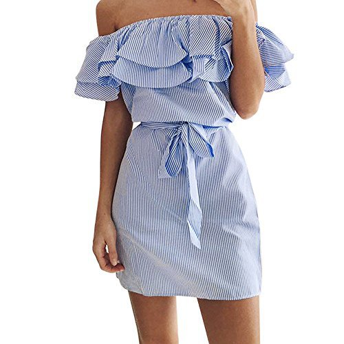 #fashion #free #style #win #giveaway Women Summer Dress Luca Lady Strapless Siamese skirt (XL, Blue) #rt