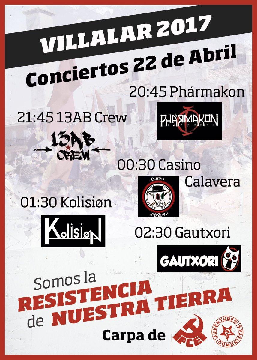 RT @UJCECyL: Este sábado en #Villalar os esperamos con precios populares y mucha música. ¡Pásate por nuestra carpa! https://t.co/fPm2LMfj5t