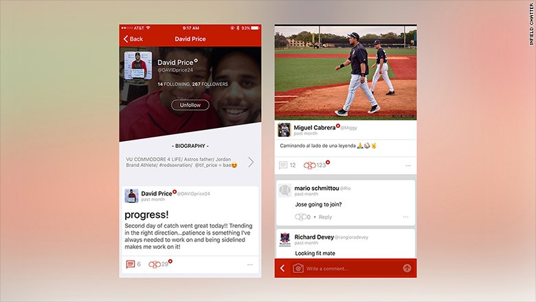 MLB players are rolling out a new baseball-centric social media app called Infield Chatter