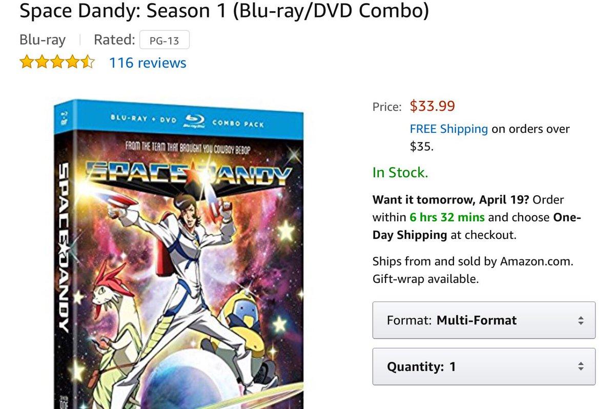 スペース☆ダンディ買うならアメリカ版じゃんよう!前後編合わせて$70だぜい!#スペースダンディ #spacedandy