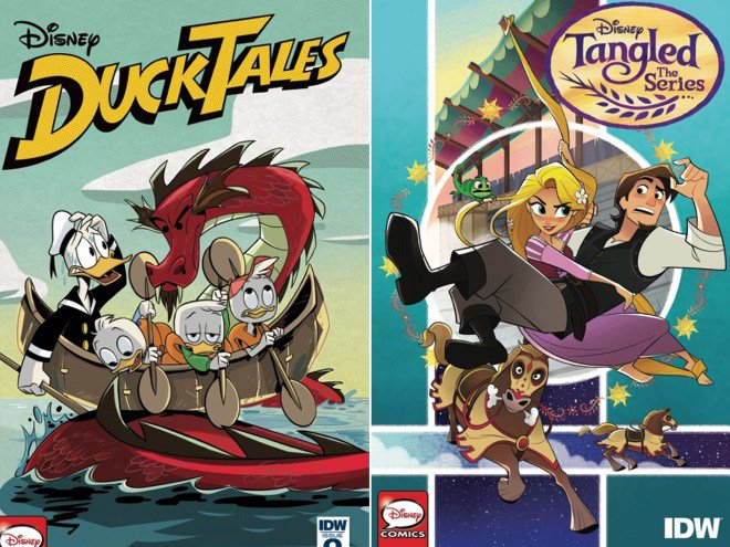 .@Disney announces new DuckTales and Tangled comics: