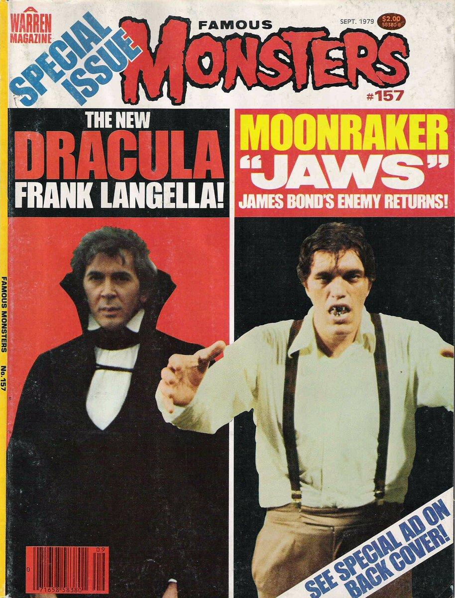 RT @TikiAmbassador: Vintage @FamousMonsters: Frank Langella's #Dracula vs. Richard Kiel's #JAWS. Who would win? https://t.co/HwASpvATNn