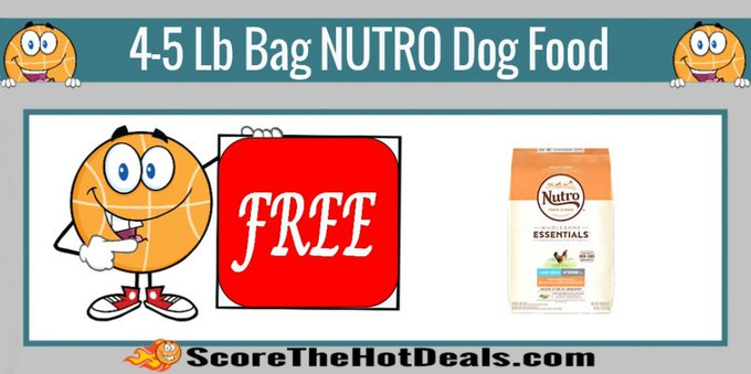 ~FREE~ 4-5 Lb. Bag Of NUTRO Dog Food!petco free freebies freebie freedogfood coupon