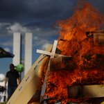 Brazil waters down pension reform as protests turn violent