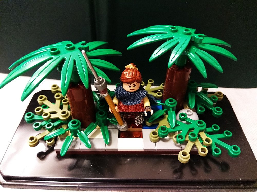 私は香港のファンです。綾瀬はるかさんを応援したいです。精霊の守り人のバルサをLEGOで作りました。