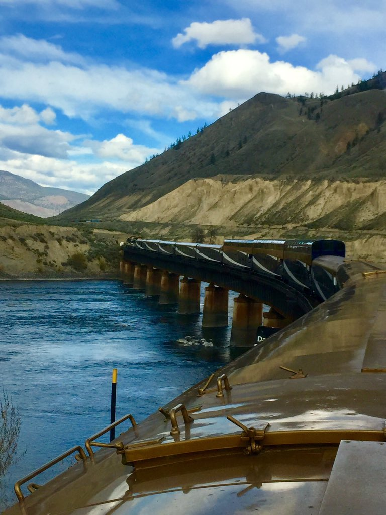 Getting close to STOP #1 Kamloops #RockyMountaineer #train #travel #canadaRail https://t.co/lQXyjtsMLL