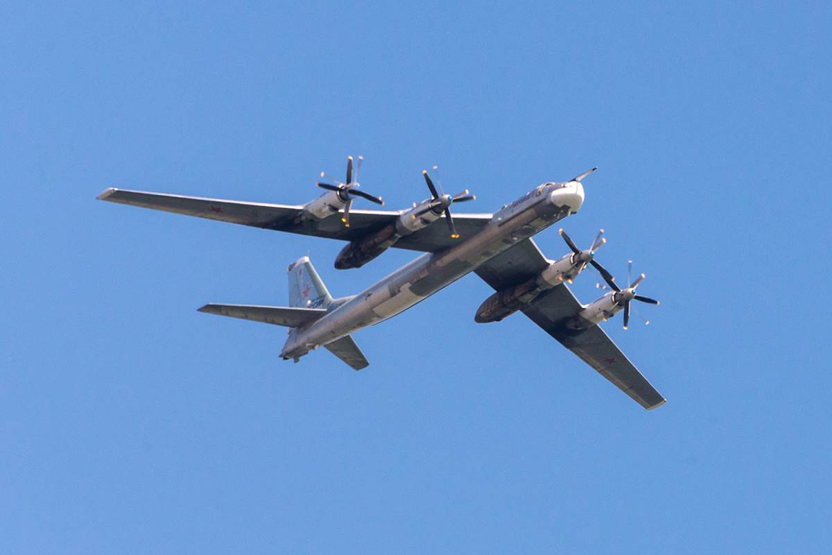 Two Russian bombers breached airspace near the Alaskan coast on Monday night