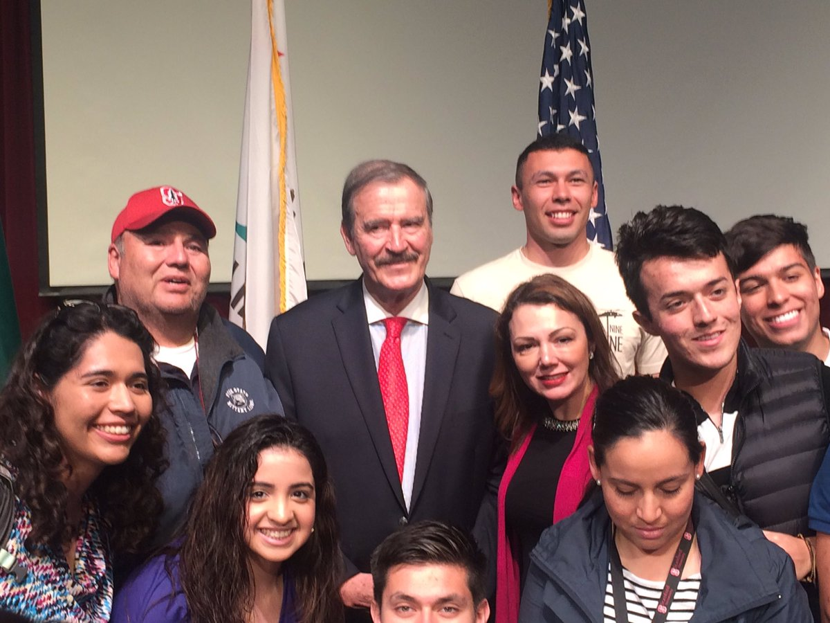 Want to be inspired about the values  of freedom and democracy? Invite @VicenteFoxQue to come speak! He was awesome today @Stanford.
