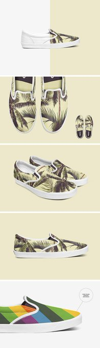 Slip-on Shoes Mockup Set free freebie freebies shoes slip-on summer