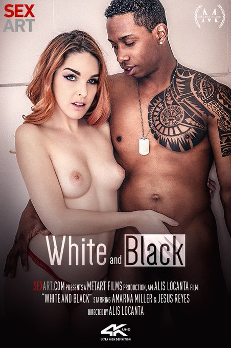 Sexy redhead @AmarnaMiller with ebony stud @x_JesusReyes - HOT new movie by @AlisLocantaOFF for @sexart