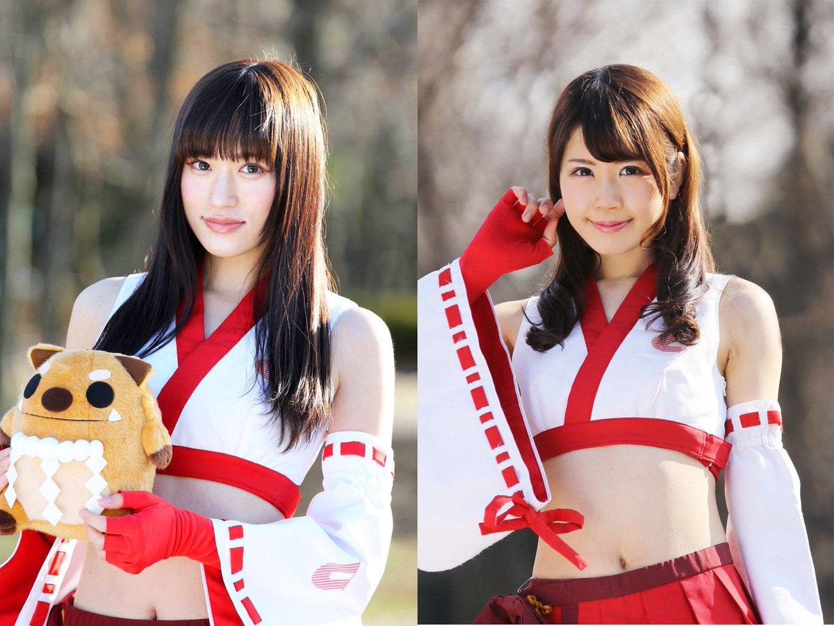 全日本ジムカーナRd.2エビスの生くす子ちゃんは、綾瀬まおちゃんと永原芽衣ちゃんです。二人ともコードギアスのお話すると悦