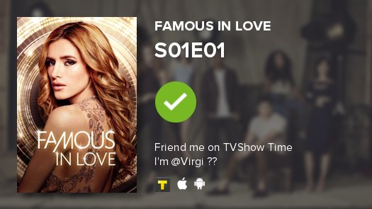 I've just watched episode S01E01 of Famous in Love!   https://t.co/fu6NnUILfw https://t.co/gSodJ4vvn6