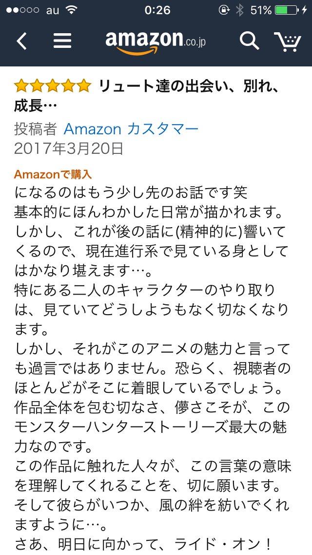 このアマゾンレビューが私がモンハンストーリーズに言いたいこと8割5分語ってくださっている……ほんそれ。