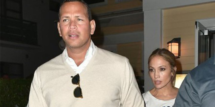 Jennifer Lopez and Alex Rodriguez hold hands leaving a steak dinner in Miami