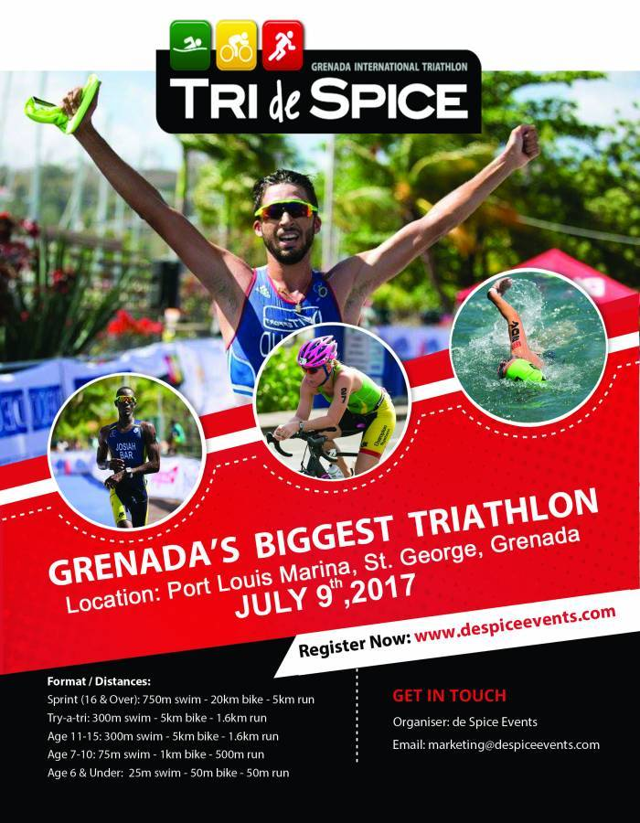 Grenada's International Triathlon July 9