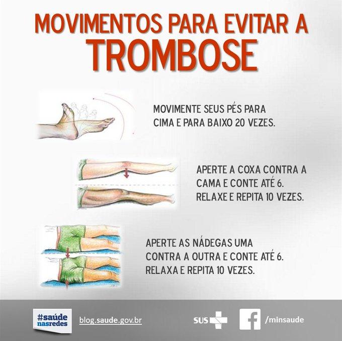 Alguns movimentos ajudam a diminuir o risco de desenvolver uma trombose. Confira e passe adiante a informação!
