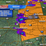 Large hail moving toward these cities! http://t.co/Y8AFMLrWPe