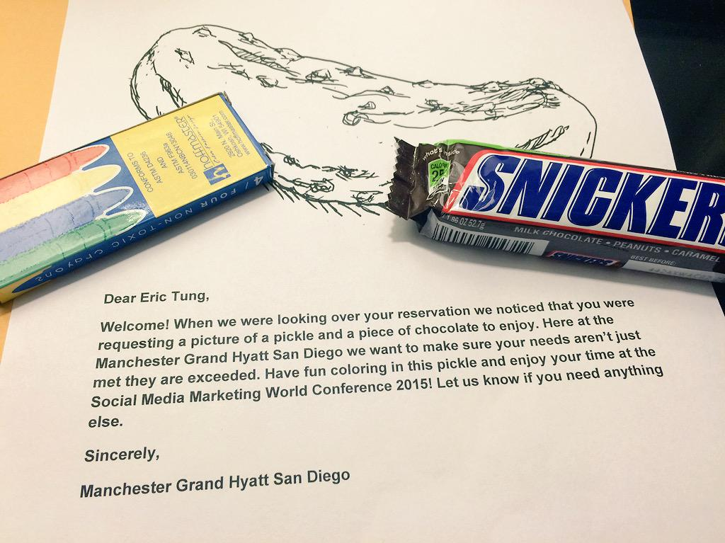 Ever wonder if companies read those extra request boxes? @GrandHyattSD does! #CustomerService #SMMW15 http://t.co/6Un3x4PvYI