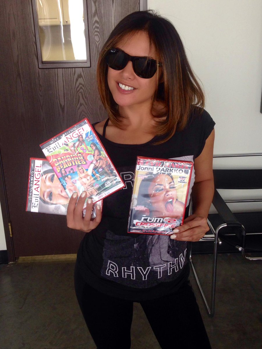 1 pic. . stopped by #EvilAngel today! Watch her in Sperm Diet