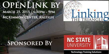 Join us Wednesday Night! OpenLink #Networking event sponsored by @NCSU_TTS. https://t.co/qgEx0KLnja #Raleigh #NC http://t.co/Mx5CoQ0aoN