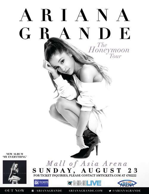 Bang bang in to the room! Ariana has entered Manila's concert scene. #2015ManilaConcerts #ArianaGrandeMNL http://t.co/DbovlQgPTn