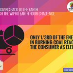 Think new; think to renew. Participate in the #wiproearthhourchallenge to do your bit in supporting the planet.